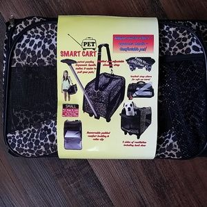 Smart cart pet carrier leopard print small